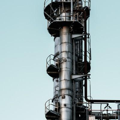「工場の煙突部」の写真素材