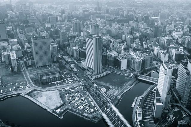 都会の街並みの写真
