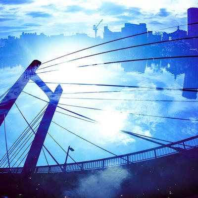 不忍池と吊り橋の写真