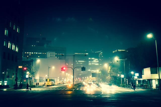 夜の日比谷の写真