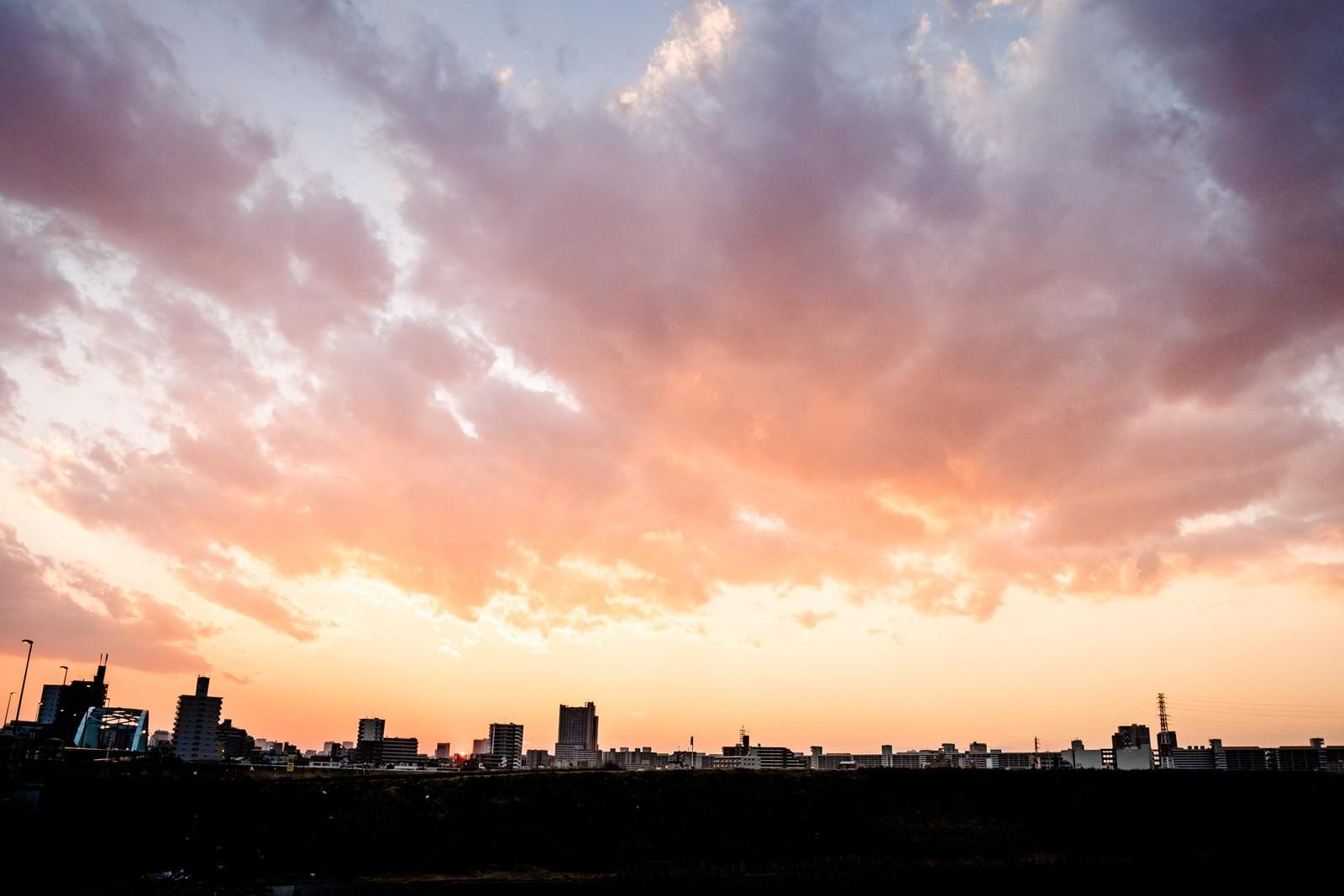 「荒川の夕暮れ」の写真
