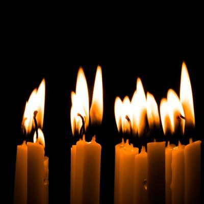 「和蝋燭(キャンドル)ナイト」の写真素材