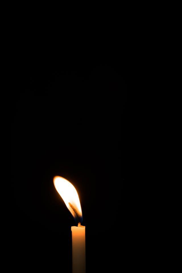 炎がゆらゆら揺れるの写真