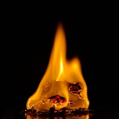「メラメラと燃える炎」の写真素材