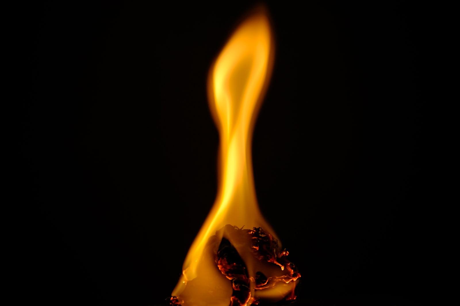 「紙くずが燃焼する」の写真