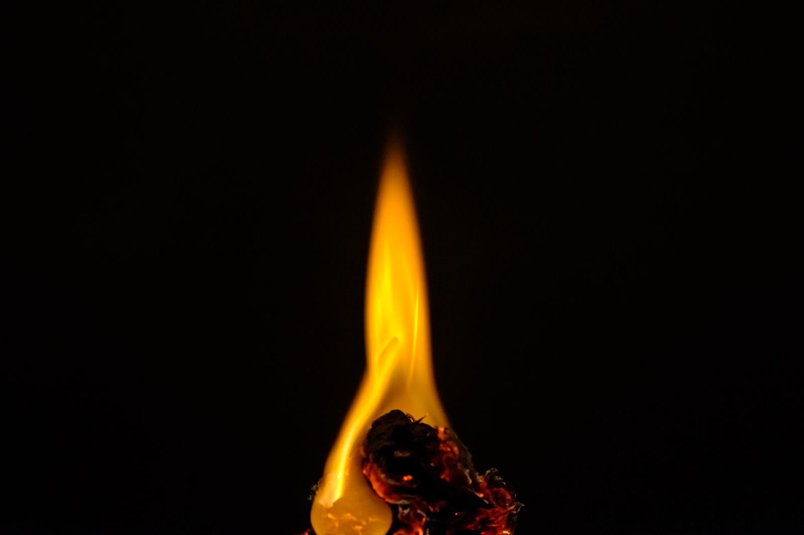 「小さく燃える」の写真