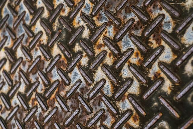 錆ついた足場の板(テクスチャー)の写真