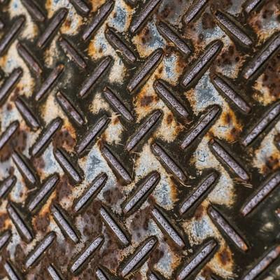 「錆ついた足場の板(テクスチャー)」の写真素材