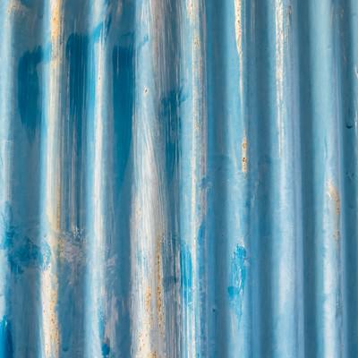 「古くなったトタンのテクスチャー」の写真素材