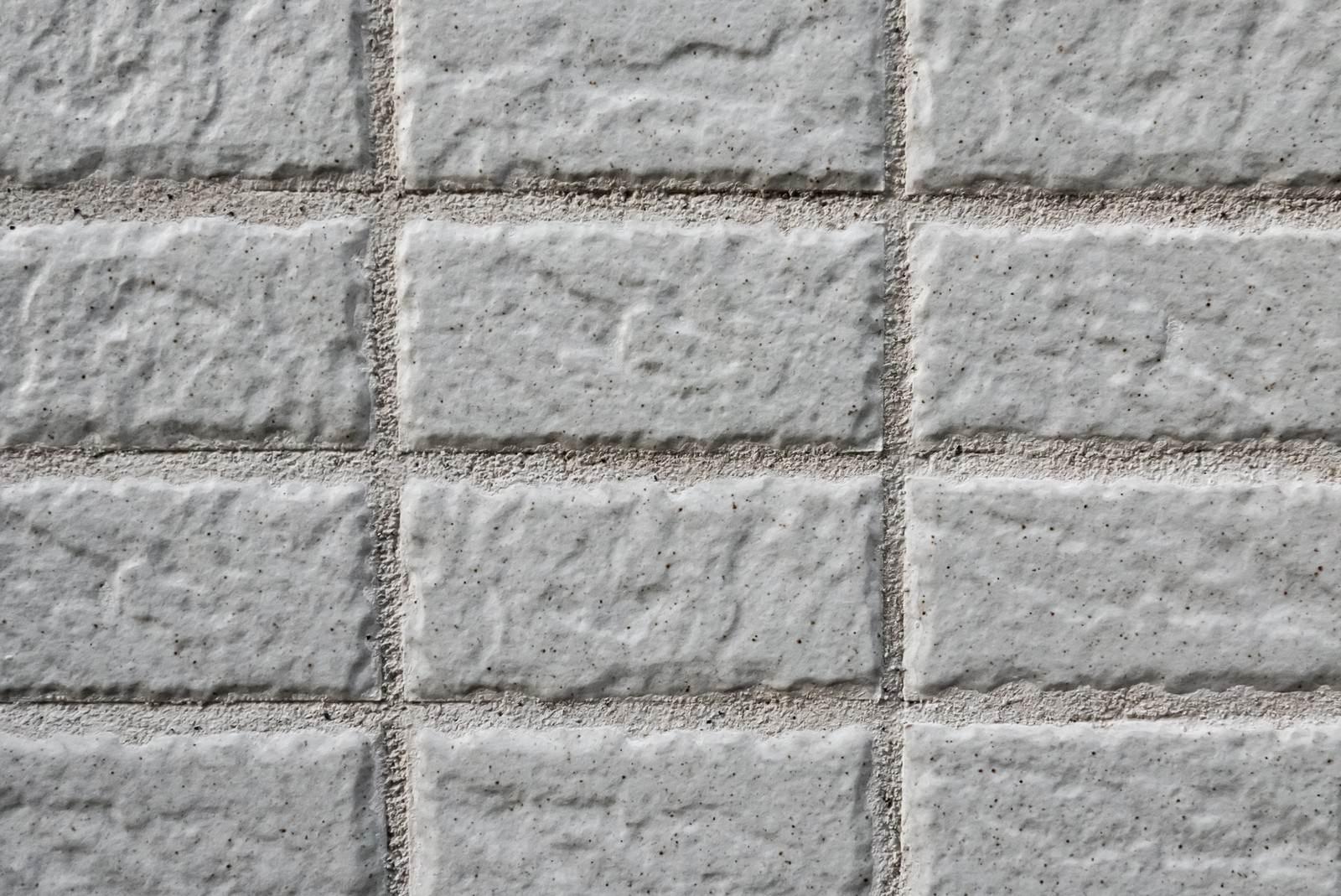 「新築の壁(タイル)」の写真