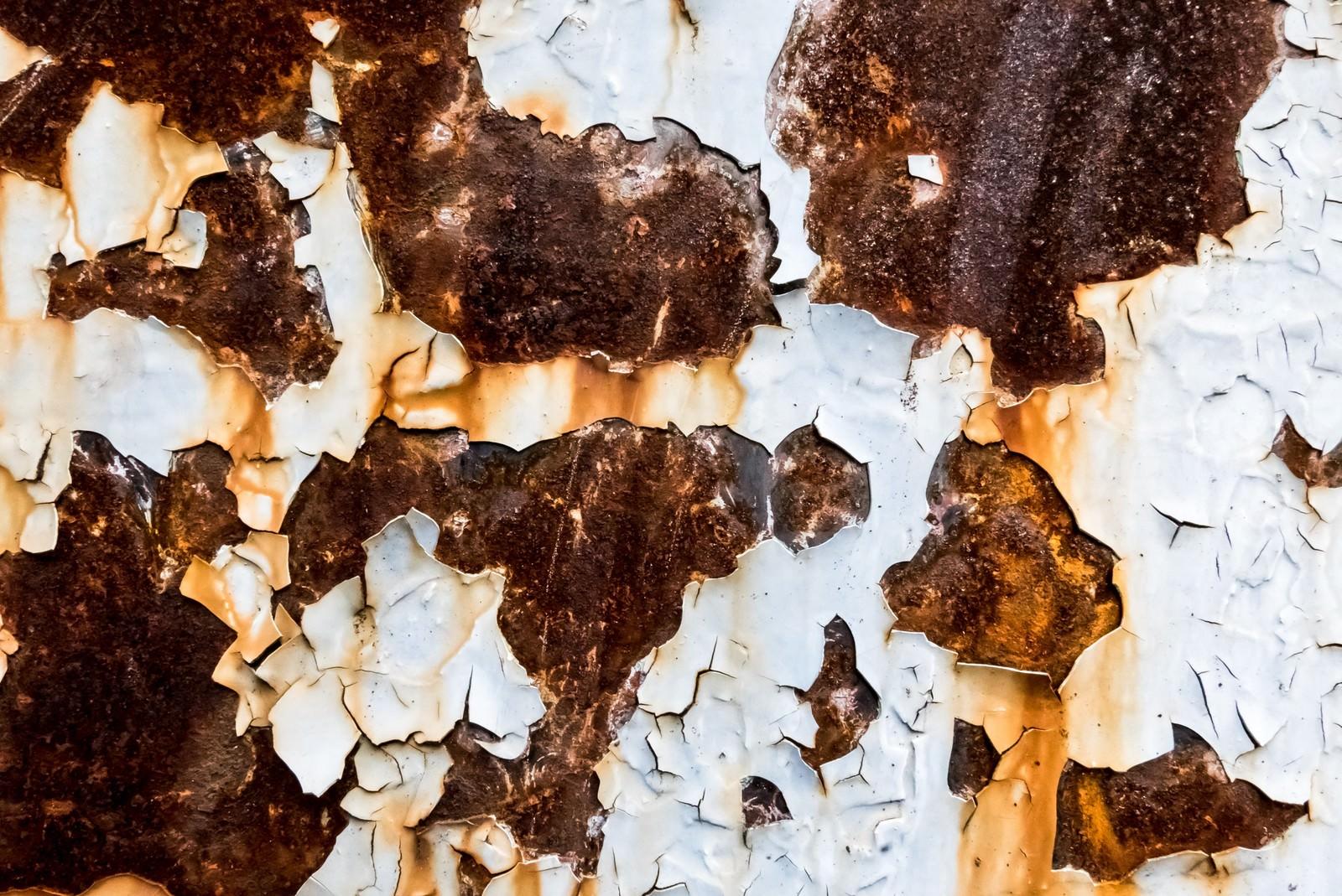 「錆びた外壁の壁」の写真