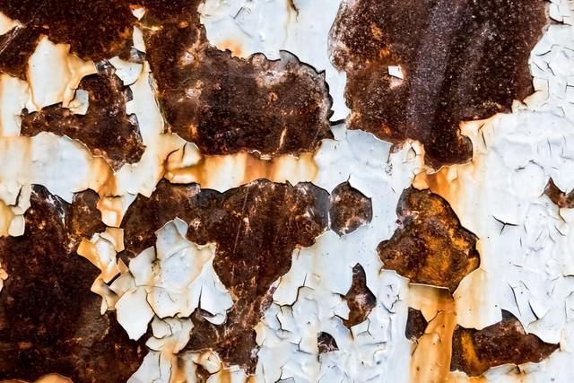 錆びた外壁の壁の写真