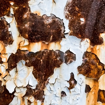 「錆びた外壁の壁」の写真素材