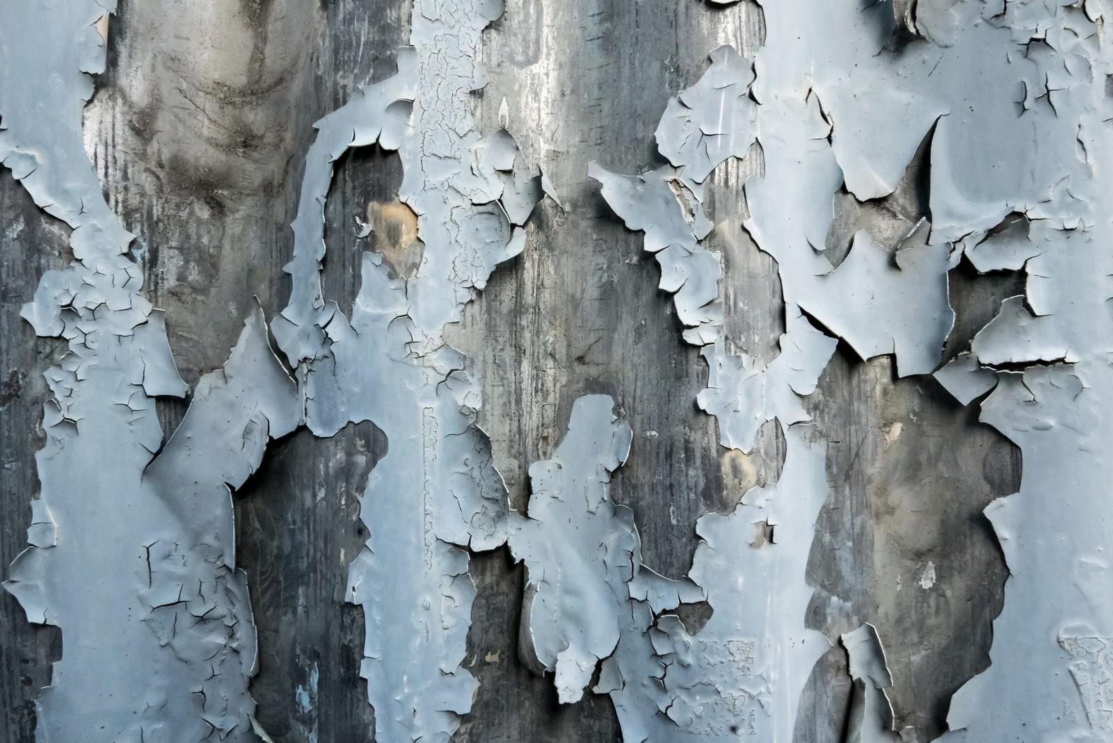 「剥がれ落ちた塗装(テクスチャー)」の写真