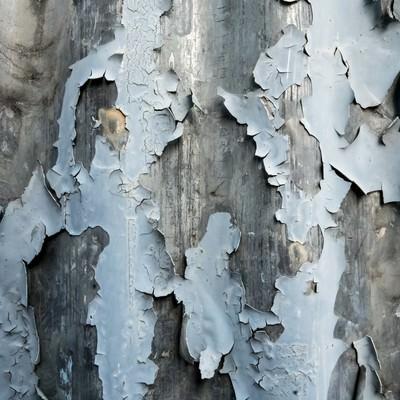 「剥がれ落ちた塗装(テクスチャー)」の写真素材