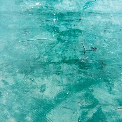 緑色に塗装した壁(テクスチャー)の写真