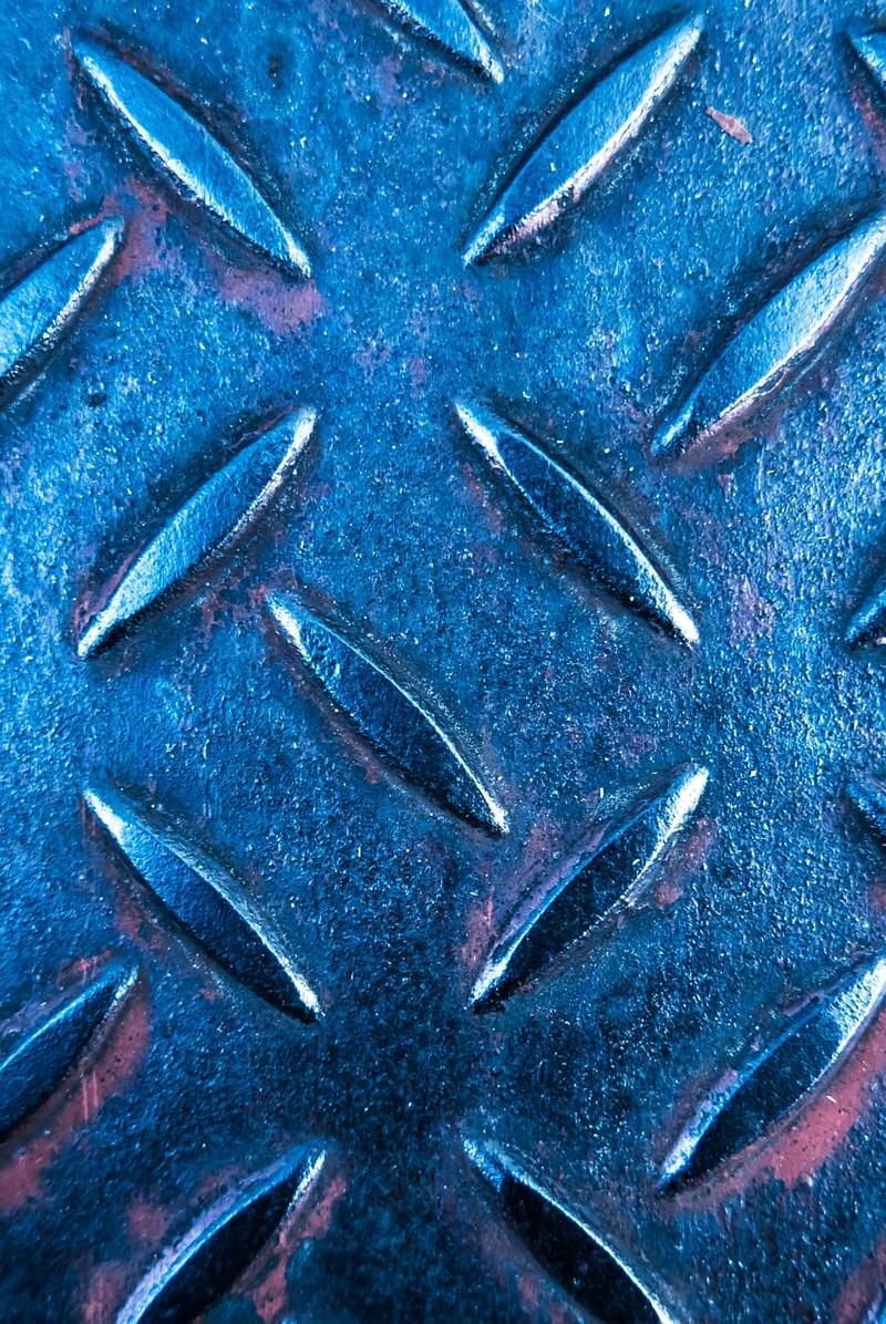 「青いメタルの足場青いメタルの足場」のフリー写真素材を拡大