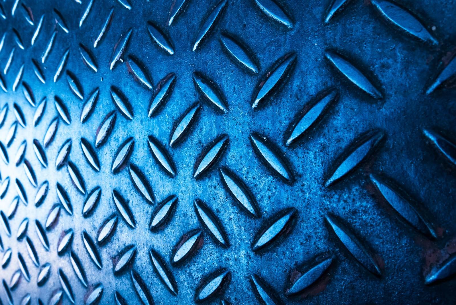 「光が差し込む青い足場光が差し込む青い足場」のフリー写真素材を拡大