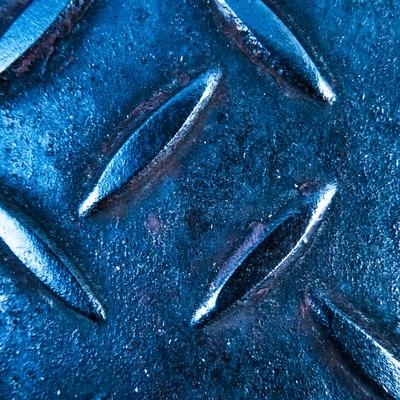青白い足場板(メタル)の写真