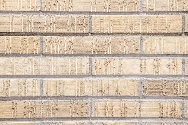 新築の外壁タイル(テクスチャー)の写真