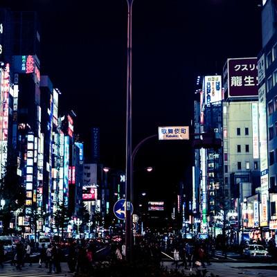 「眠らない街-歌舞伎町」の写真素材