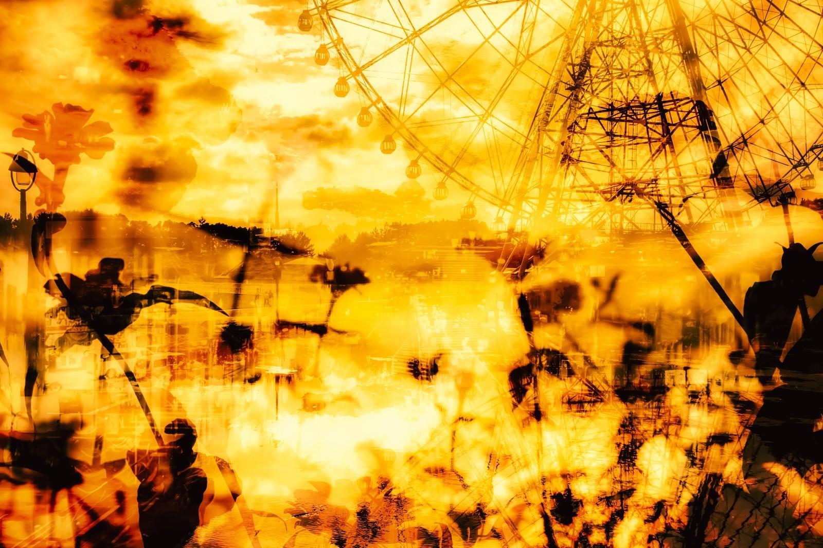 「追憶と観覧車(フォトモンタージュ)追憶と観覧車(フォトモンタージュ)」のフリー写真素材を拡大