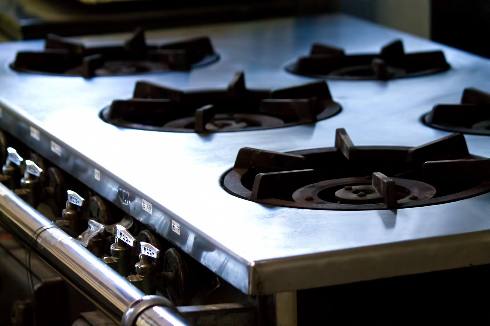 「業務用ガス台業務用ガス台」のフリー写真素材