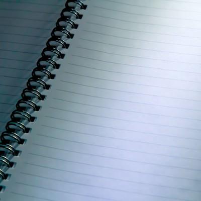 「不吉な取り調べ中のノート」の写真素材