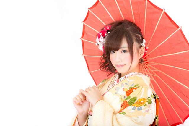 和傘美人の写真