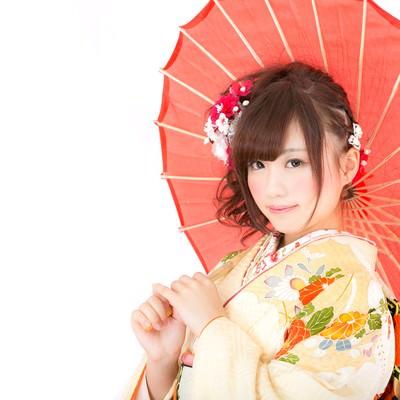「和傘美人」の写真素材