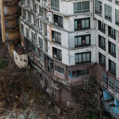 「鬼怒川の廃墟」の写真素材