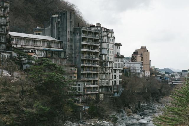 鬼怒川の廃ホテルの写真