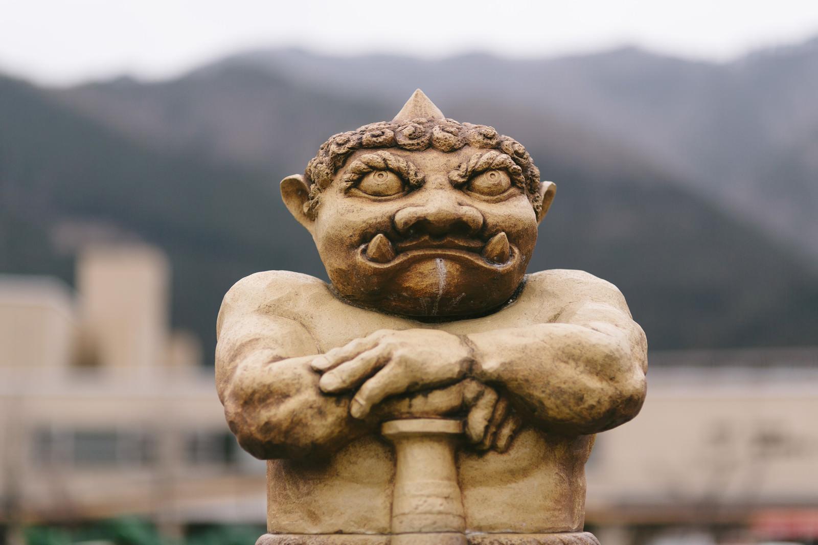 「鬼怒川駅前の鬼怒太」の写真