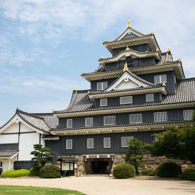 「岡山城天守閣」の写真素材