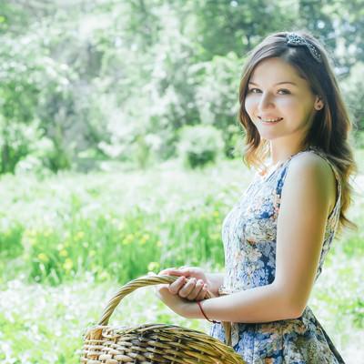 おでかけ日和とロシア人美女の写真