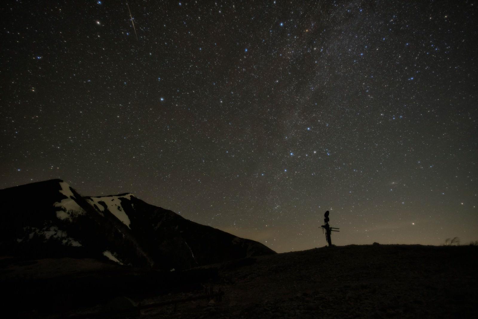 「北アルプスの星空」の写真