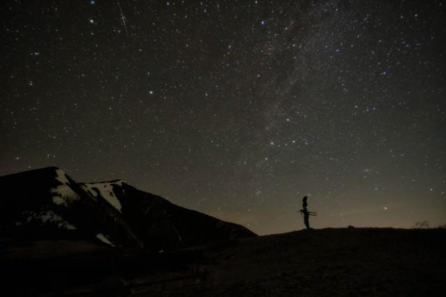 北アルプスの星空の写真