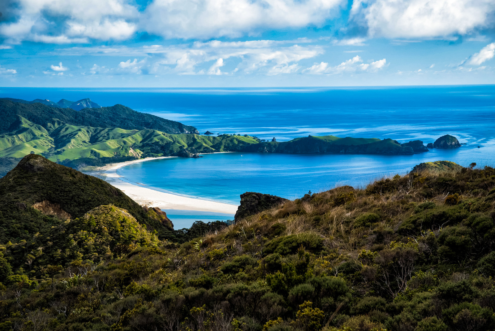 「アオテアトレックから見える美しいビーチ(ニュージーランド)」の写真
