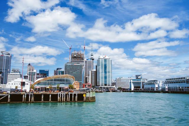オークランド港から見た景色(ニュージーランド)の写真