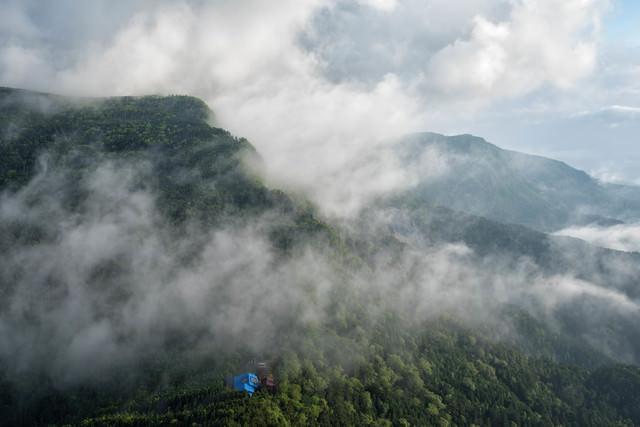 雲上の本沢温泉(八ヶ岳)の写真