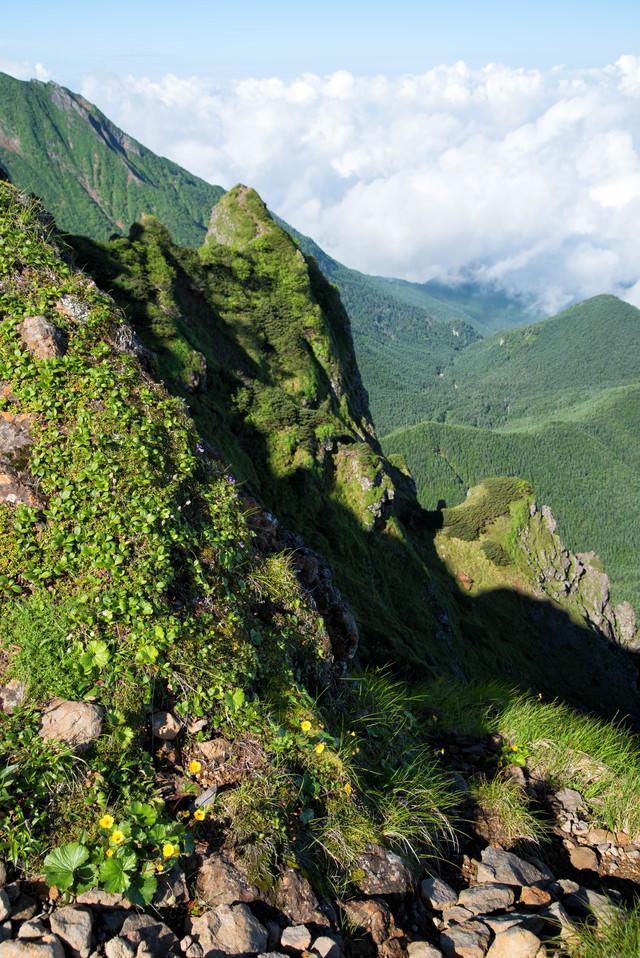 横岳の岩場からの眺望(八ヶ岳)の写真