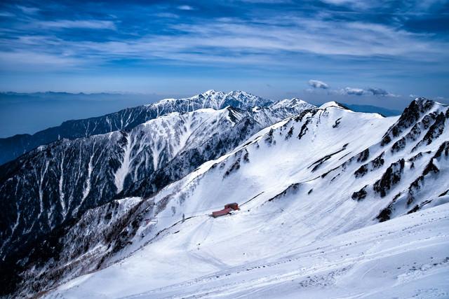 残雪の稜線(中央アルプス)の写真