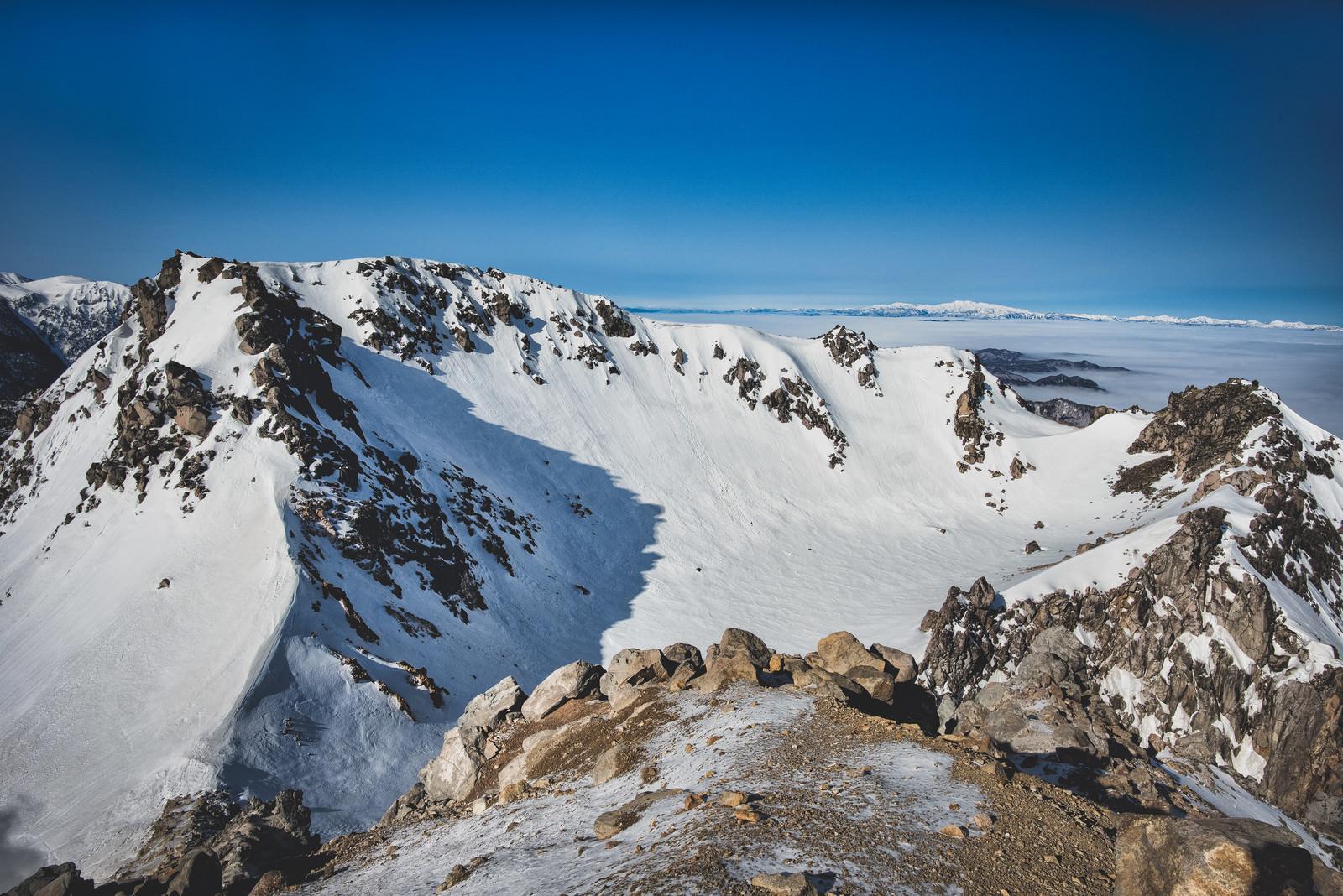 「焼岳の火口(北アルプス)」の写真