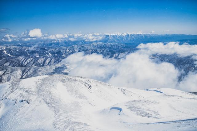 剣ヶ峰山頂の絶景(高天ヶ原方面)の写真