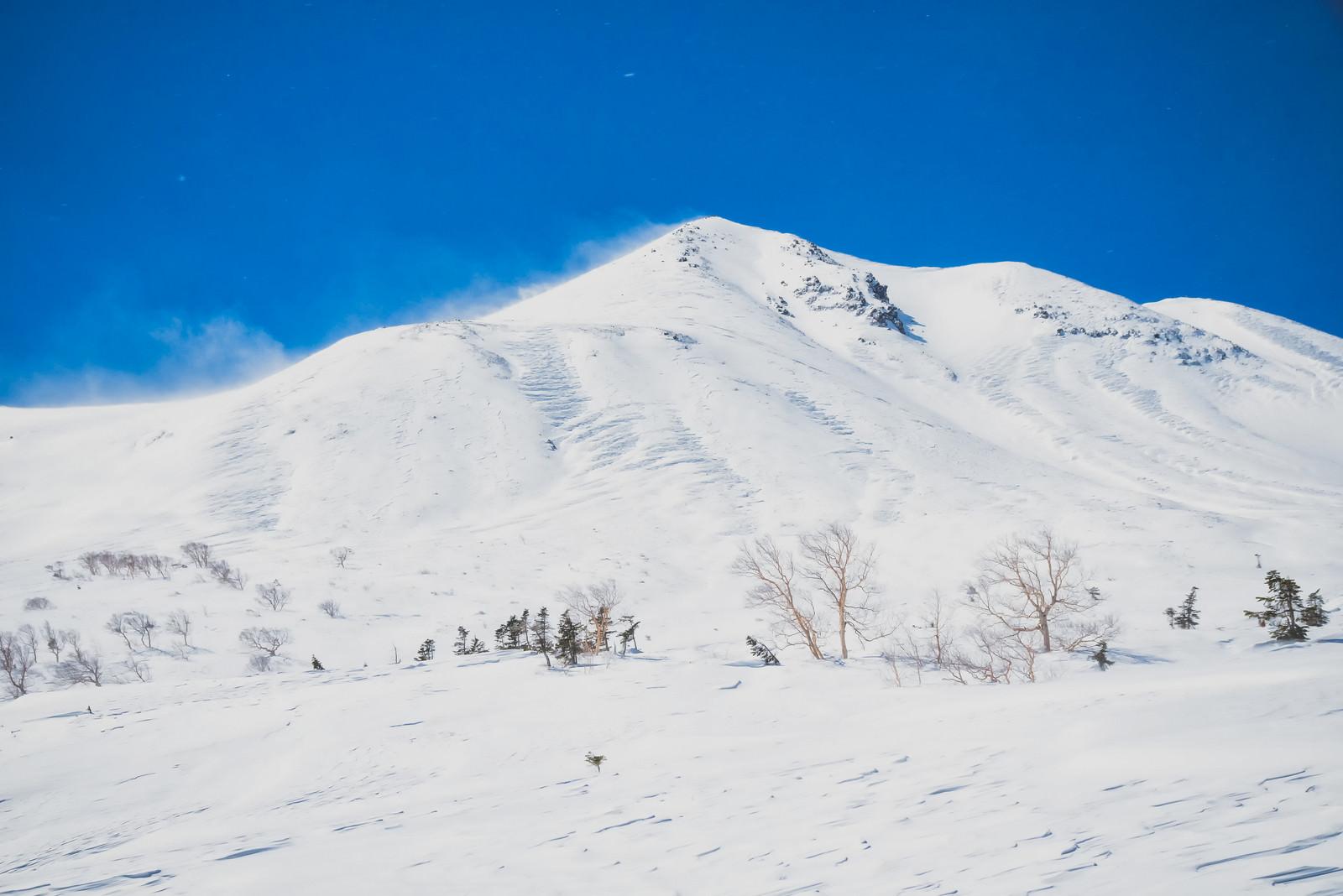 「乗鞍高原から望む剣ヶ峰(北アルプス)」の写真