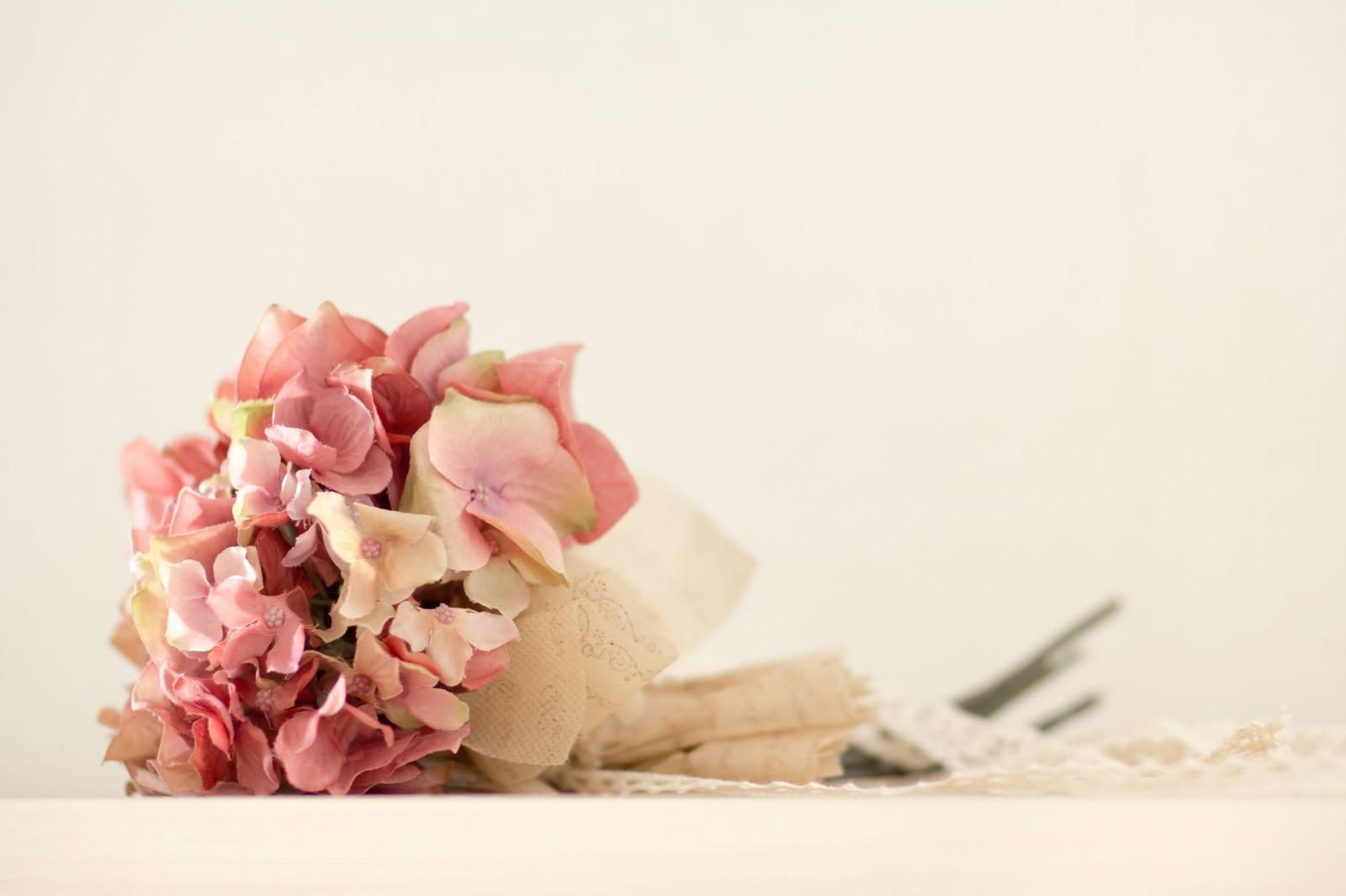 「あじさいの花束造花」