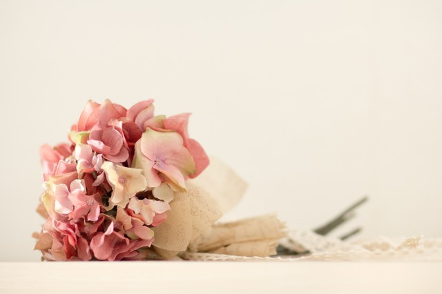 あじさいの花束造花の写真