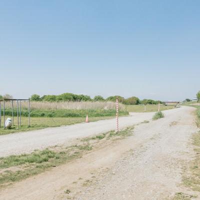 広い河川敷の写真