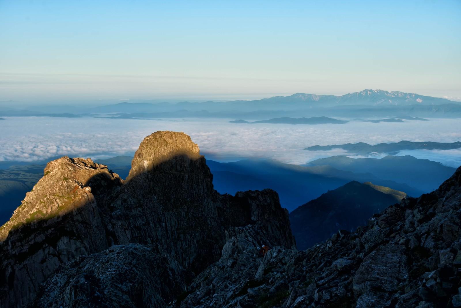 「雲海に見える白山の景色」の写真