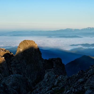 雲海に見える白山の景色の写真